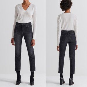 NWT AG The Isabelle Black Washed Denim Jeans